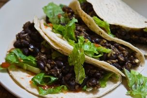 Tacos cu fasole prăjită