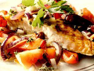 Peşte alb cu legume înăbuşite