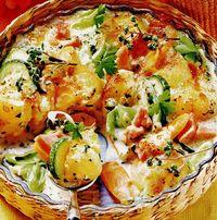 Sufleu cu legume şi cartofi