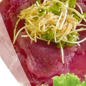 Carpaccio de vita cu salata asortata