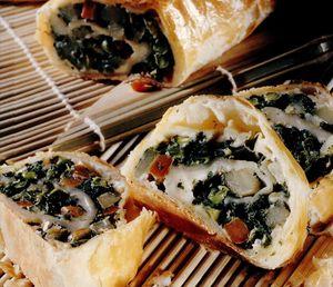 Rulou cu legume şi brânză
