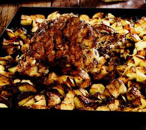 Ciolan de porc cu garnitură de legume