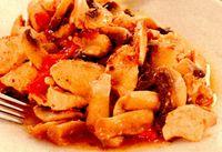 Mâncare dietetica cu pui şi ciuperci