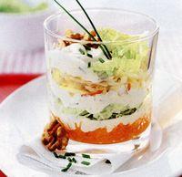 Salată de crudităţi la pahar
