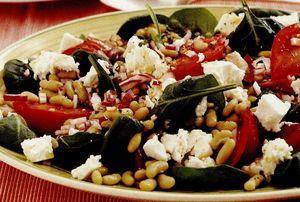 Salată grecească de spanac cu fasole