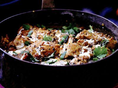 Curry de pui, cocos şi tamarind