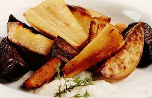 Legume coapte cu sos de hrean