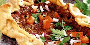 Pizza turcească cu carne tocată