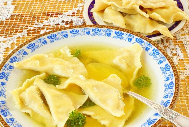 Supă de pui cu kreplach