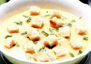 Supa crema de legume cu lapte de soia