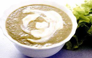Supa crema din salata creata