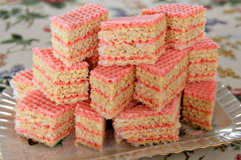 Reteta zilei: Tort din napolitane