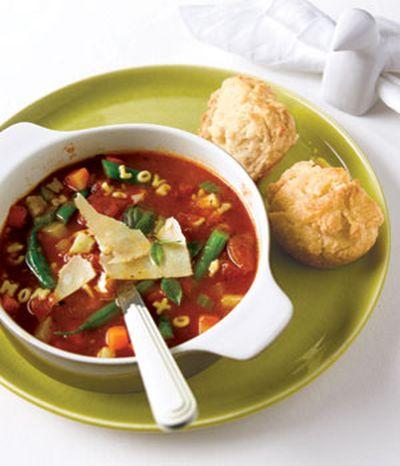 Supa Minestrone cu cascaval