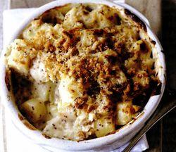 Cartofi şi păstârnac copţi, cu muştar şi miere
