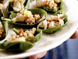 Gustări thailandeze cu spanac