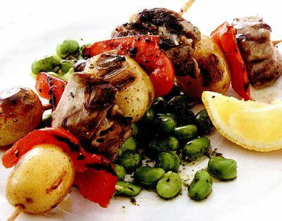Kebab de miel şi cartofi