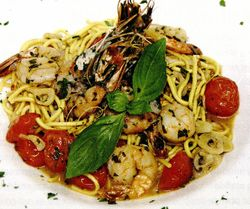 Spaghetti cu creveţi