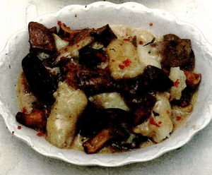 Gnocchi cu ciuperci şi salvie