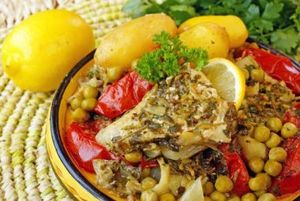 Peste gatit in stil marocan