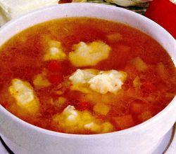 Supa de legume cu galuste de cas