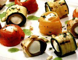 Rulouri cu mozzarella si legume