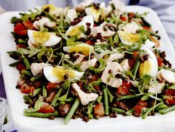 Somon cu salată de linte