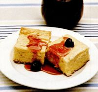 Budincă de mălai cu brânză de vaci