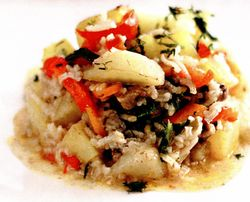 Ghiveci cu orez si carne de vită