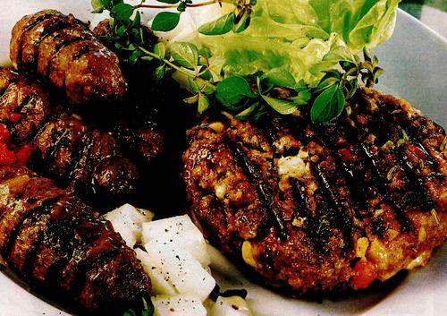 Carne tocată pe grătar