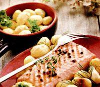 File de somon si cartofi