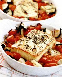 Salată de brânză şi legume coapte