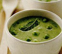 Supa rece cu mazare si menta