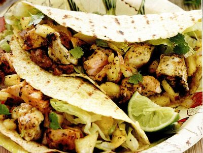 Tacos cu somon picant