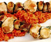 Frigărui de ciuperci cu risotto