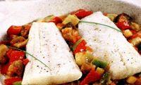 Peste pe pat de legume (cod)
