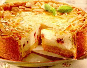 Prăjitură cu brânză si menta