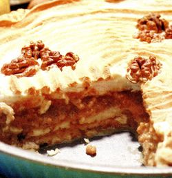 Prăjitură cu cremă de nuci