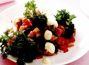 Salata cu carne de vitel si sfecla