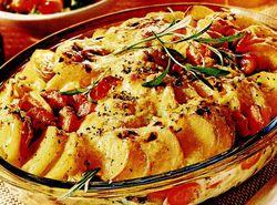 Sufleu de cartofi cu branza si nuci