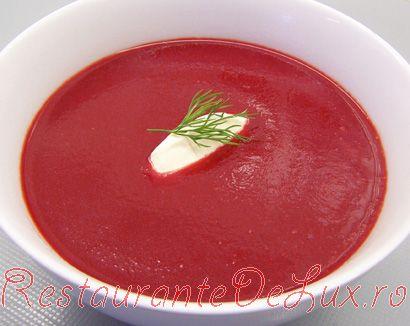 Supa crema de sfecla rosie cu legume