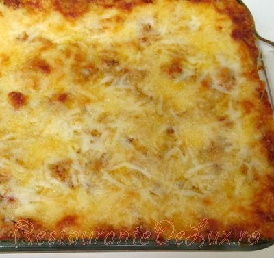 Budinca de spaghete cu ciuperci