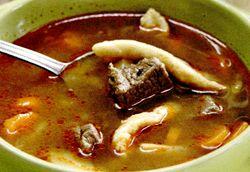 Supa de vitel cu patrunjel
