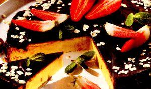 Tarta_cu_branza_invelita_în_ciocolata