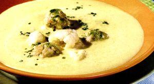 Supa crema cu conopida si praz