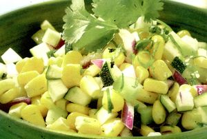 Porumb cu salata verde