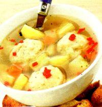 Supa cu galuste de paine