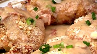 How_to_make_Chicken_Cordon_Bleu_with_Bacon_and_Scallion_Creme_Gravy