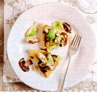 Tartine cu sos alb cu ciuperci