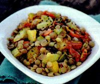 Salata de linte cu feta