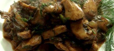 Tocanita de ciuperci cu marar